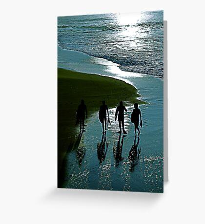 Surfer Blue Greeting Card
