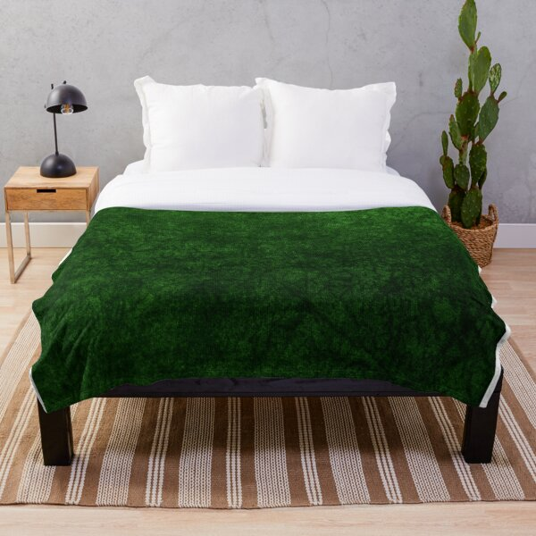 Emerald Green Grass Velvet | Texture  Throw Blanket