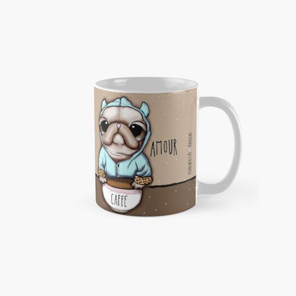 The Pug or French Bulldog with coffee Classic Mug