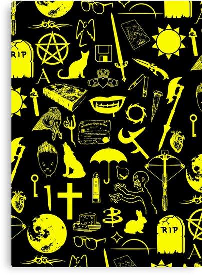 Buffy Symbology, Yellow by arthurpopular