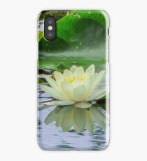 white lotus flower iPhone Case/Skin