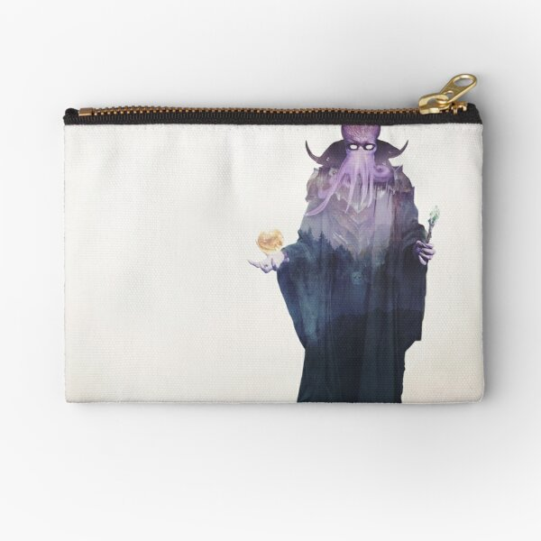 Mind Flayer (Illithid) Dnd /D&D / Dungeons and Dragons Double Exposure Modern Art Zipper Pouch