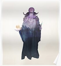 Mind Flayer (Illithid) Dnd / D & D / Dungeons und Dragons Doppelbelichtung Moderne Kunst Poster