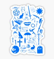 Buffy Symbology, Blue Sticker