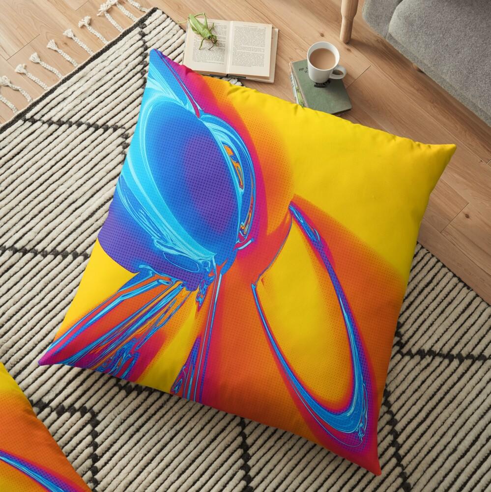Abstract Pop Art Shapes Floor Pillow