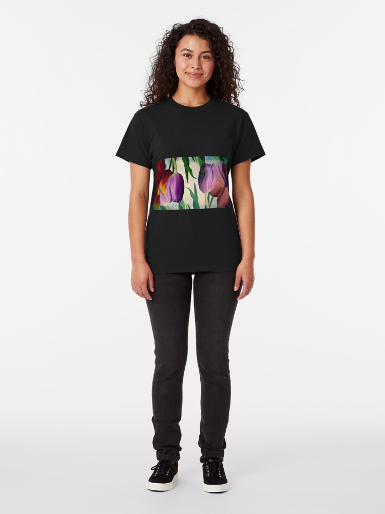 Alternate view of Tulips Gone Topsy Turvy Classic T-Shirt