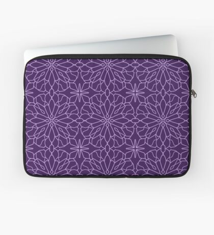 Geometric Lace - Ultra Violet - repeat pattern by Cecca Designs Laptop Sleeve