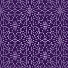 Geometric Lace - Ultra Violet - repeat pattern by Cecca Designs by Cecca-Designs
