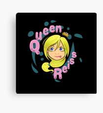 Queen Reiss in Black Canvas Print