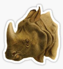 Vintage Rhinoceros  Sticker