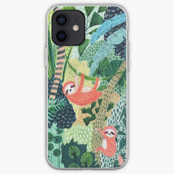 Jungle Sloth Family iPhone Soft Case