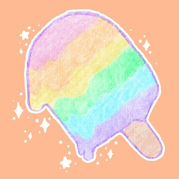 Pastel Rainbow Melty Popsicle by BonBonBunny
