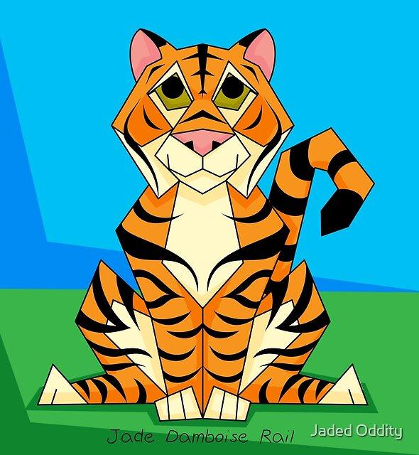 Friendly Tiger by Jade Damboise Rail