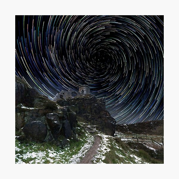 Mow Cop Castle At Night Photographic Print