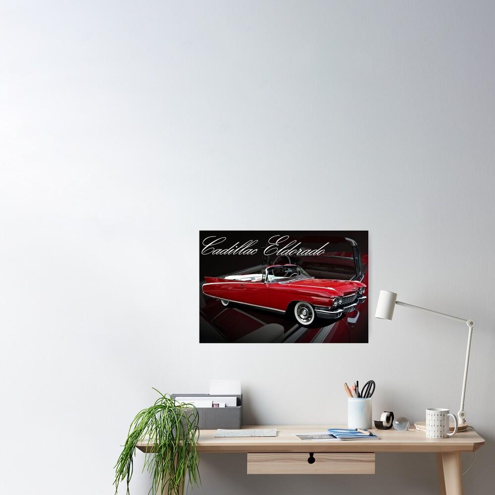 """""""1960 Cadillac 62 Series Convertible El Dorado"""" Poster By"""