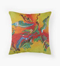 """Intrepid"" original abstract artwork Throw Pillow"