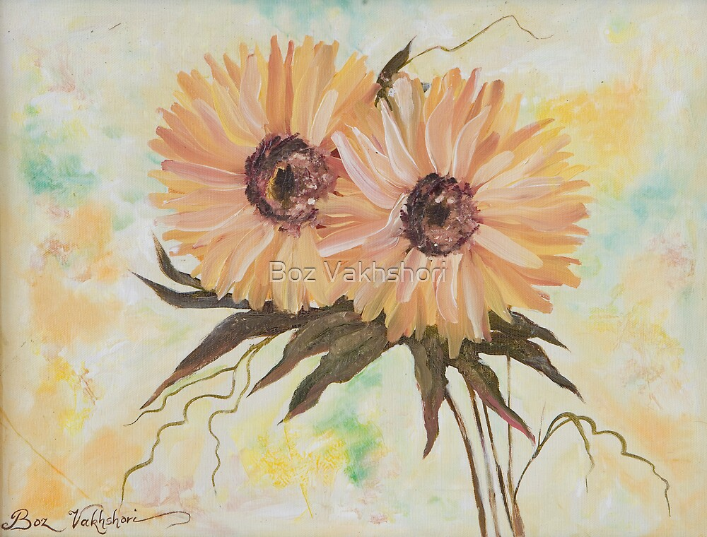 Chrysanthemums. by Boz Vakhshori