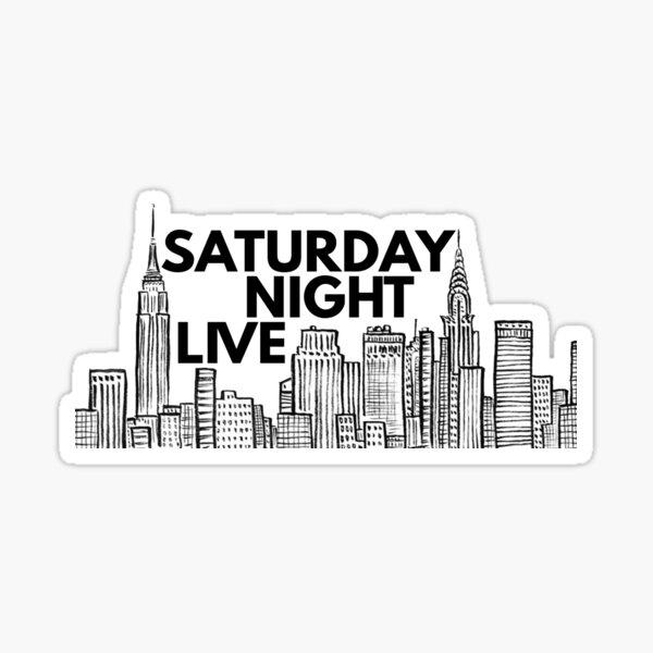 Saturday Night Live (NYC Skyline) Sticker