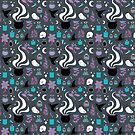 Witchy Pattern - Dark by jbott