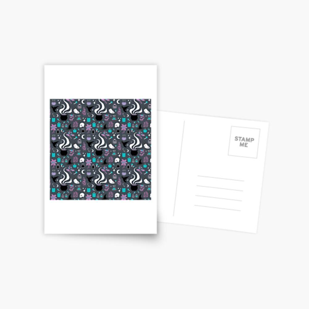 Witchy Pattern - Dark Postcard