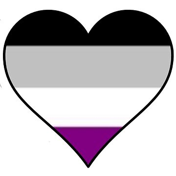 Asexual flag pride heart by thekaym