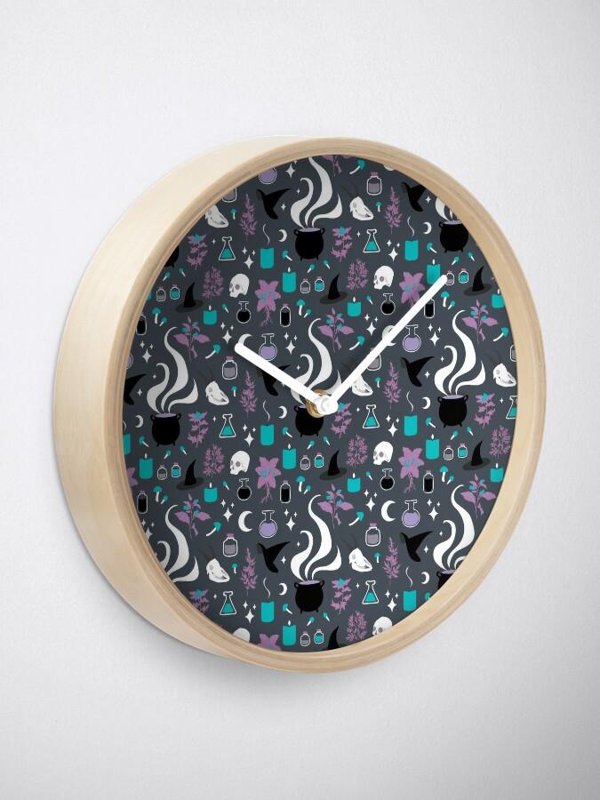 Alternate view of Witchy Pattern - Dark Clock