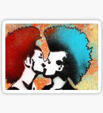 Punx in Love by The Rhinovirus Sticker