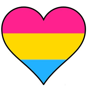 Pansexual heart pride flag by thekaym