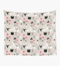 Witchy Pattern - Light Wall Tapestry