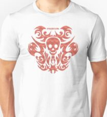 skull tattoo orange Unisex T-Shirt