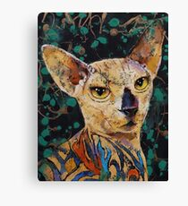 Tattooed Sphynx Canvas Print