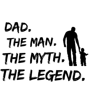 Mens Pops The Man Myth Legend T Shirt Dad Fathers Day by tees4gees