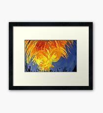 Ocean Aflame Framed Print