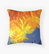 Ocean Aflame Throw Pillow