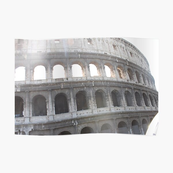 Colosseum or Coliseum, also known as the Flavian Amphitheatre Poster