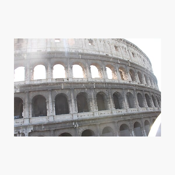 Colosseum or Coliseum, also known as the Flavian Amphitheatre Photographic Print