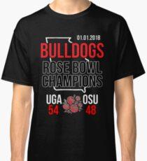 Bulldogs Rose Bowl Champions Shirt (Score Shirt)- 2018 Georgia Classic T-Shirt