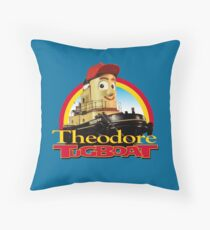 Theodore Tugboat Throw Pillow