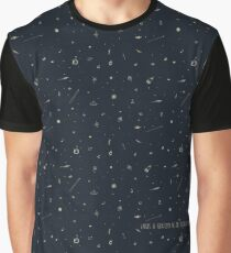 Space pattern - we are floating in space Graphic T-Shirt