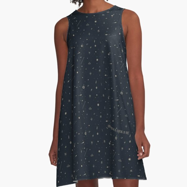 Space pattern - we are floating in space A-Line Dress