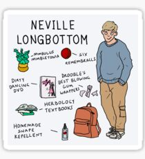 Neville Longbottom - What's in his bag Sticker