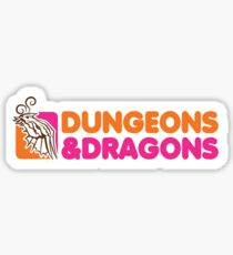 Dungeons and Dragons | Dunkin Donuts Sticker