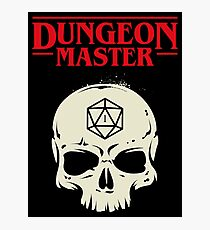 Dungeon Master Hardcore Skull Dungeons and Dragons Inspired DnD D&D Photographic Print