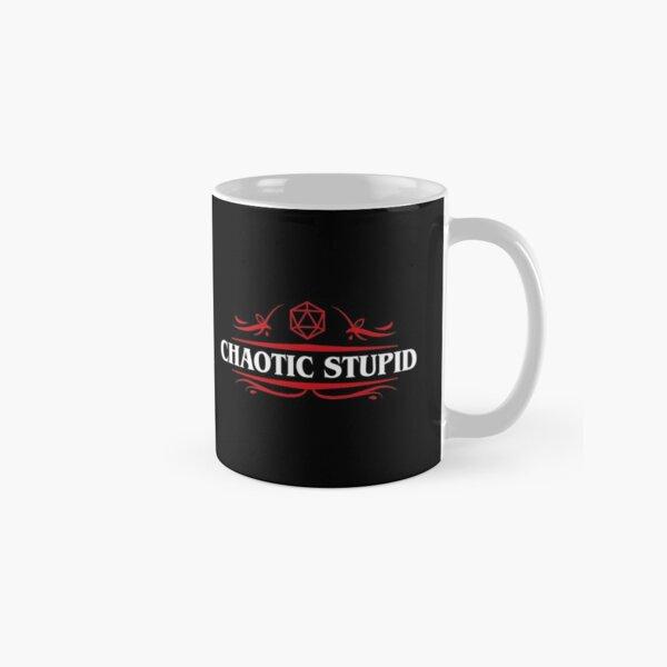 Chaotic Stupid Alignment Tabletop RPG Addict Classic Mug