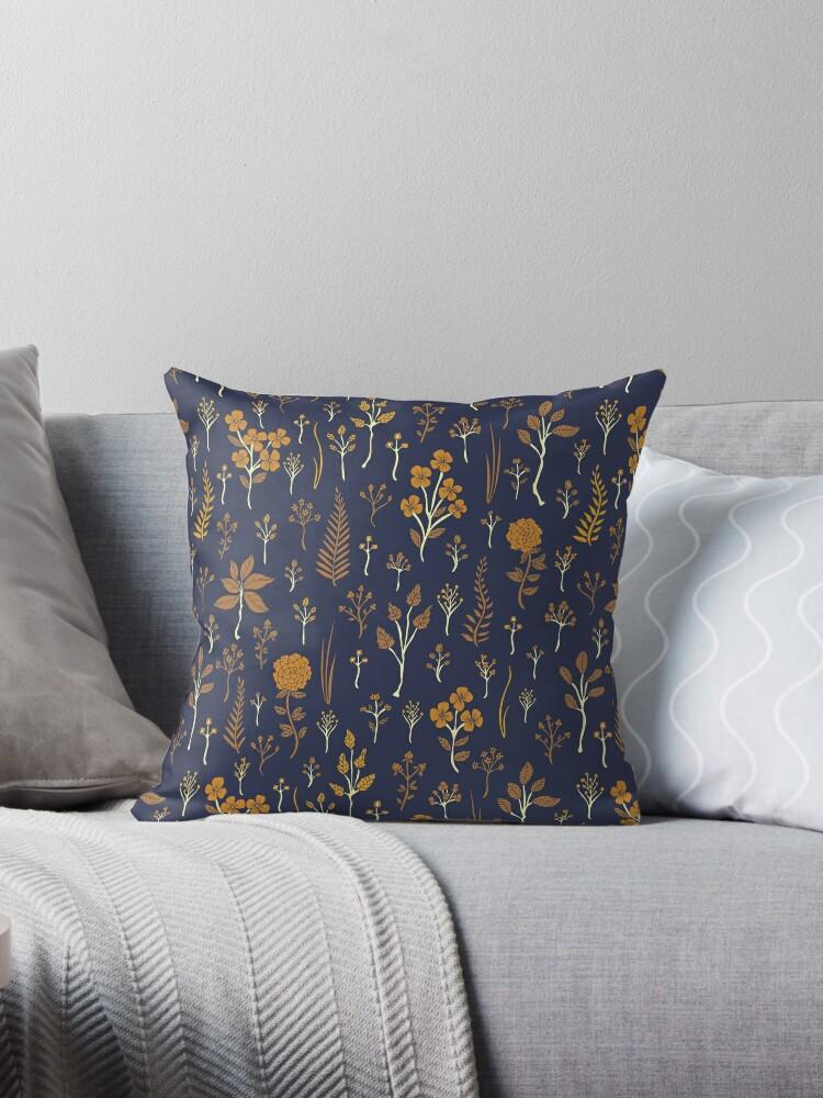 d473e7f499c Navy Blue   Mustard Yellow Floral Pattern