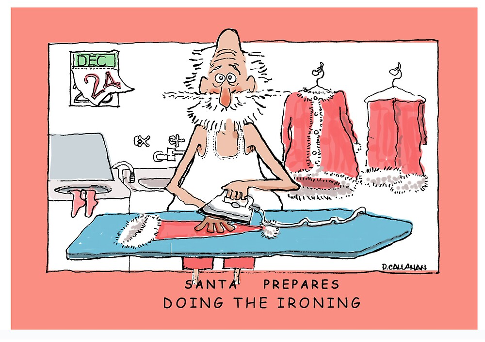 Santa Prepares -Doing The Ironing by DamianCallanan