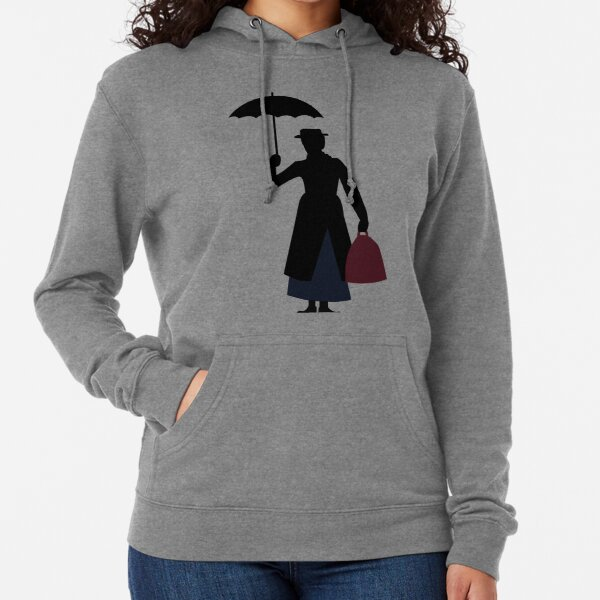 Mary Poppins Silhouette Lightweight Hoodie