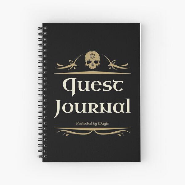 Quest Journal Master Tabletop RPG Addict Spiral Notebook