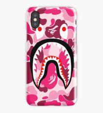 Red Patern Bape Shark Case Phone iPhone Case