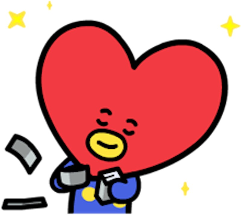 Quot Tata From Bt21 Bts Quot Stickers By Jess Lung Redbubble